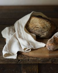 Small Country Towel With Variegated Stripes (Natural)