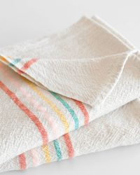 Large Country Towel With Stripes On Ends (Candy)