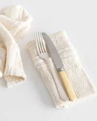 Country Napkin With Variegated Stripes (Natural)