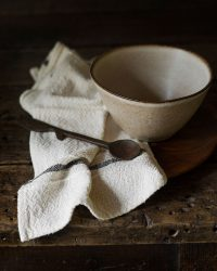 Country Napkin With Variegated Stripes (Charcoal)