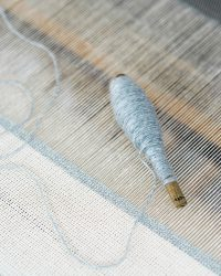 Country Napkin With Variegated Stripes (Grey)