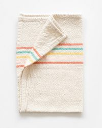 Small Country Towel With Stripes On Ends (Candy)