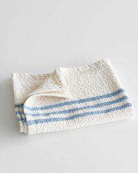 Small Country Towel With Stripes On Ends (Denim)