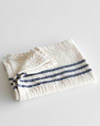 Small Country Towel With Stripes On Ends (Navy)