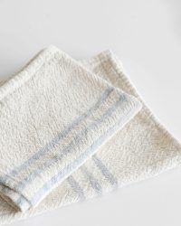 Small Country Towel With Stripes On Ends (Grey)