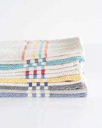 Small Country Towel With Stripes On Ends (Natural)