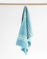 Small Contemporary Towel With Variegated Stripes (Teal)