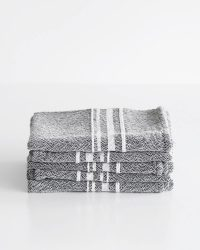 Small Contemporary Towel With Variegated Stripes (Charcoal)