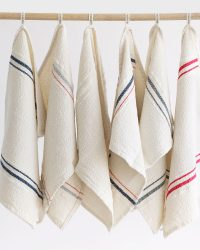 Small Country Towel With Variegated Stripes (Navy/Red)