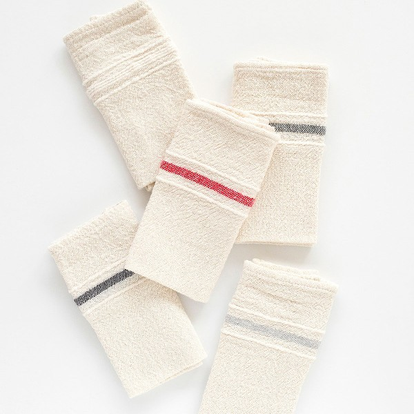 Country Napkins With Variegated Stripes