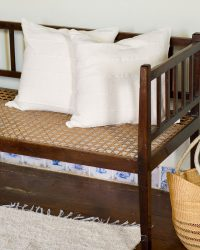 Country Cushion Cover With Stripes Throughout (Natural)