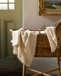 Baby Blankets With Stripes Throughout (Natural)