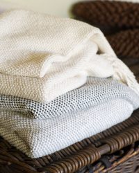 Thick Weave Blanket (Natural)