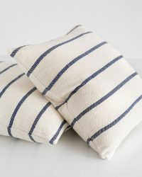 Country Cushion Cover With Stripes Throughout (Navy)