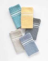 Contemporary Napkin with Variegated Stripes (Indigo)