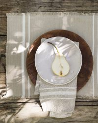 Contemporary Napkin with Variegated Stripes (Stone)