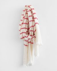 Country Scarf With Stripes Throughout (Red)