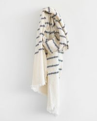 Country Scarf With Stripes Throughout (Navy)