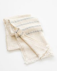 Country Scarf With Stripes On Ends (Grey)