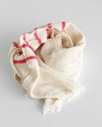 Country Scarf With Stripes On Ends (Red)