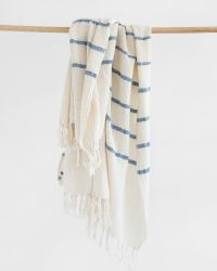 Country Shawl With Stripes Throughout (Denim)