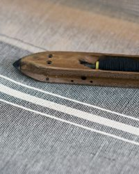 Contemporary Table Cloth With Variegated Stripes (Charcoal)