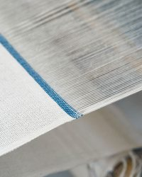 Country Table Cloth With Stripes On Ends (Denim)