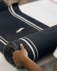 Contemporary Table Runner With Stripes