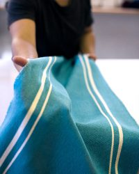 Contemporary Placemat With Stripes On Ends (Teal)